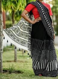 <b>New Arrival Soft</b> cotton Black and white cotton Saree #Saree ...