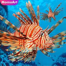 MomoArt Diamond Embroidery <b>Animal</b> Fish Painting <b>Full Square</b> ...