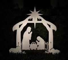 outdoor nativity scene yard set
