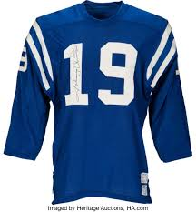 Signed Worn Unitas Heritage Game 50700 Baltimore Lot Auctions 1971-72 Colts amp; Johnny