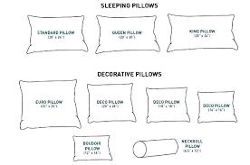 Throw Pillow Sizes Chart Aadvark