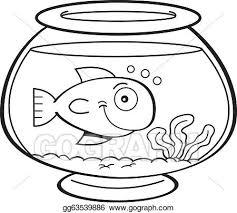 fish bowl clip art black and white. Plain White Cartoon Fish In A Bowl With Fish Bowl Clip Art Black And White L