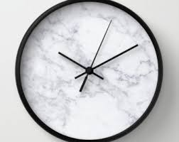 office clock wall. Marble Wall Clock White Office Decor Modern
