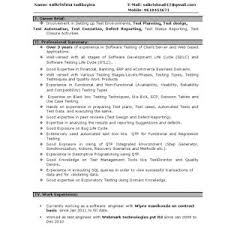 cover letter Sample Resume For An Experienced Qa Software Tester How To  Write Samples Norcrosshistorycenter Qasoftware