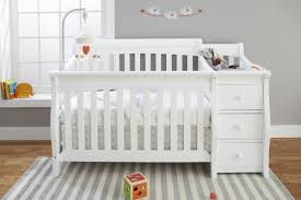Sorelle Princeton Elite 4-in-1 Convertible Crib and Changer - White