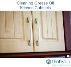 How To Remove Grease From Kitchen Cabinets Extraordinary Cleaning Grease From Kitchen Cabinets ThriftyFun