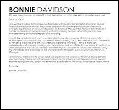 Financial Statement Cover Letter Revenue Manager Cover Letter Sample Cover Letter Templates