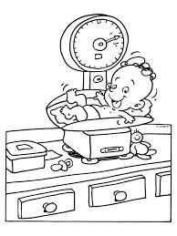 Kleurplaat Geboorte Gewicht Weegschaal Kleurplatennl Thema
