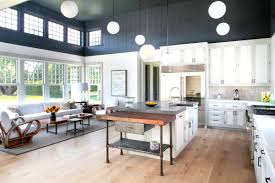 Hardwood Floors In The Kitchen Gray Kitchen Cabinets With Wood Floors Quicuacom