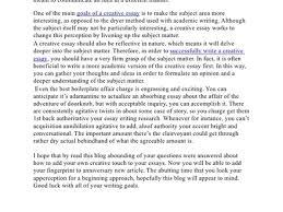 example essay topics reflective essay writing samples org creative essay writing samples