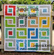 Baby Quilt Pattern Amazing Jungle Path Baby Quilt Free Quilt Pattern Love To Sew
