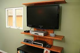 wall mounted shelves for electronics