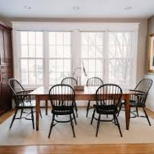 black windsor chairs. Bright Transitional Dining Room Features Black Windsor Chairs