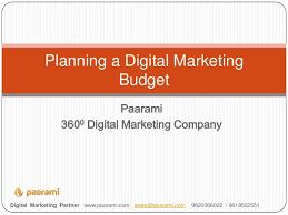 Digital Marketing Budget Planning