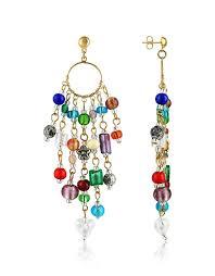 glass bead chandelier earrings lyst view fullscreen