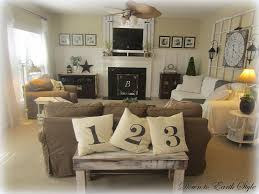 Living Room Decor With Fireplace Living Room Rustic Country Decorating Ideas Window Treatments