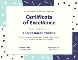 Award Of Excellence Certificate Template Delectable Academic Excellence Certificate Templates By Canva