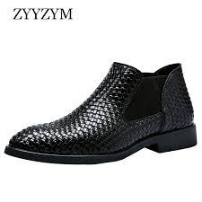 <b>ZYYZYM Men</b> Chelsea <b>Boots</b> Spring Autumn Hand Knit High help ...