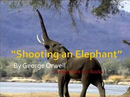 "shooting an elephant"" p george orwell ""in moulmein in lower burma  author george owell  george orwell is the pen"