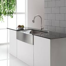 stainless steel sink faucets kitchen modern undermount faucet inch base shallow cabinets pull out hose replacement