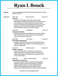Carpenter Resume Resumes Pdf Cv Sample Finish Objective