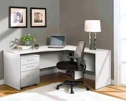 white l shaped desk. Simple White Modern White Lshaped Desk With Mobile Pedestal Intended L Shaped T