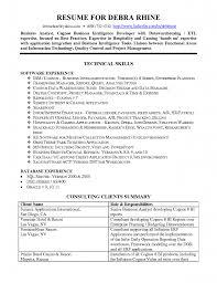 Sample Resume For Sql Developer Fresher Simple Cognos Developer Resume Format For Cognos Sample Resume 15