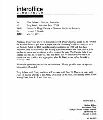 Example Of An Interoffice Memo