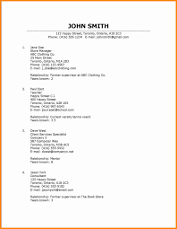 References In A Resume References Resume Example Reference Examples