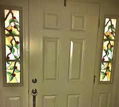 custom stained glass sidelight windows