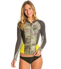 Billabong Womens Peeky Front Zip Wetsuit Jacket At