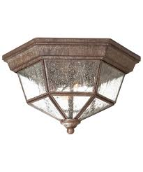 shown in vintage rust finish and clear seeded glass