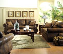Microfiber Living Room Set Homelegance Wrangler 3 Piece Microfiber Living Room Set In Brown