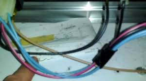 view of wiring for whirlpool estate dryer