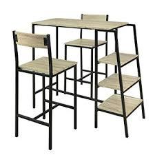 SoBuy® OGT16-N Set de 1 Table + 2 Chaises Ensemble Table de Bar ...