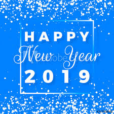 Happy New Year postcard. Happy New Year 2019 text design. Greeting ...