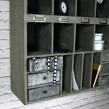 pigeon hole shelf grey wooden shelving unit with drawer storage build units