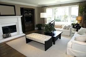 dark wood coffee table set black wood frame with white tufted leather bench ottoman seated next dark wood coffee table
