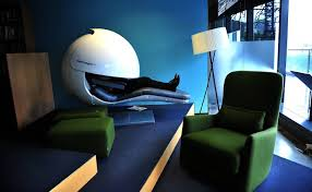 office sleeping pod. Snoozing: A Sleep Pod At Google Headquarters In Sydney. Picture:  Karleen Minney Office Sleeping D