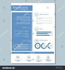Simple Classy Cv Resume Template Vector Stock Vector Royalty Free