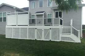 white privacy fence ideas. Deck Privacy Wall View Larger Image Sup With White Fence . Ideas