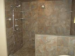 Bathrooms Without Tiles Comfortable Bathroom Shower Designs Without Doors With Walk In
