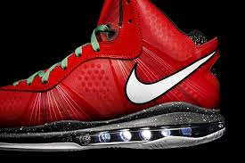 lebron 8 christmas. fresh look at nike lebron v2 christmas exclusive with red laces lebron 8 h