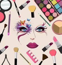makeup accessories design elements multicolored flat design free vector 18 96mb