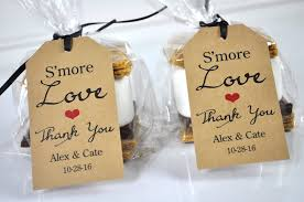 thank you tags for wedding favors wedding favors smore love favor tags rustic wedding favors thank