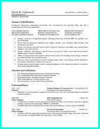 Construction Project Manager Resume Template Download Example