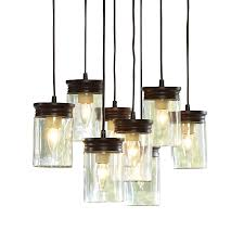 allen roth 24 in w bronze pendant light with clear shade at