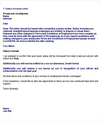 Increment Letter Template Extraordinary Sample Salary Review Letter Template Gdyinglun