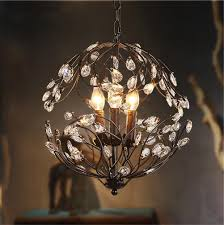 decor ideas gorgeous small crystal chandeliers vintage industrial pendant ceiling light 3 lights living room decoration