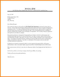 Sample Cover Letter For Property Management Position Adriangatton Com